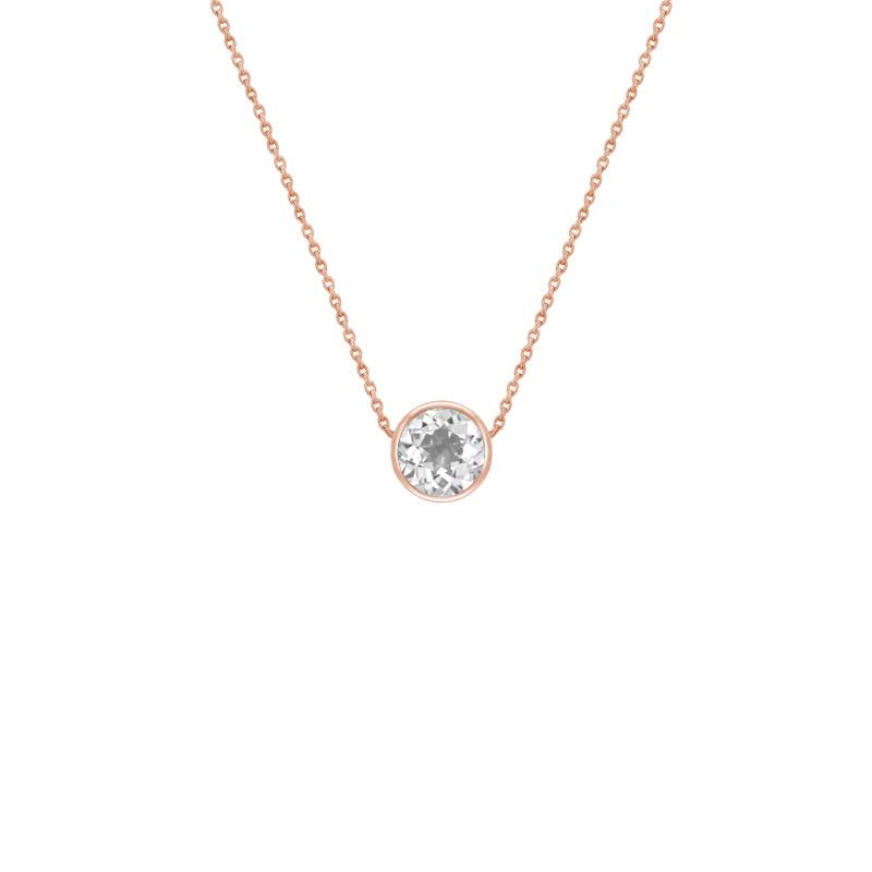 Zlatý náhrdelník s bílým topazem Jonie Přívěsky a náhrdelníky s drahokamy cbad5a901b8