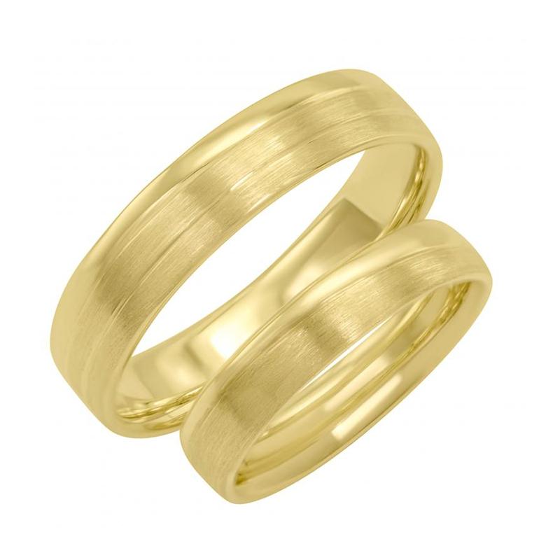 Zlate Snubni Prsteny S Jemnymi Drazkami Riola Eppi Cz