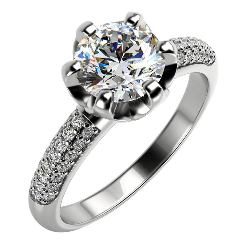 Zasnubni Zlaty Prsten S Diamanty Lineas Eppi Cz