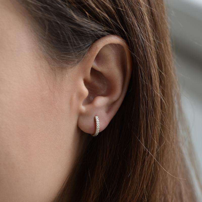 78e593c94 Elegantní kruhové náušnice s diamanty Gomati Diamantové náušnice