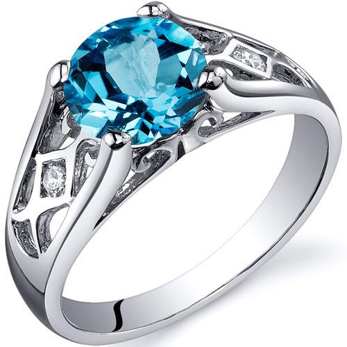 6640a5f9a Stříbrný prsten se švýcarským topazem a zirkony Inga | Eppi.cz