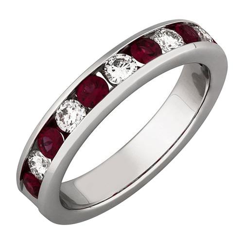 Eppi Prsten ze zlata zdobený rubíny a diamanty Iolana R32117